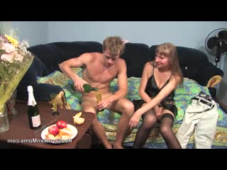 DrunkenMoms: Elena - milf love fuck young boy (porno,sex,full,xxx,couples,old,suck)