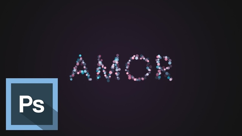 Tutorial Photoshop - Texto Luces de colores - Texto Romantico