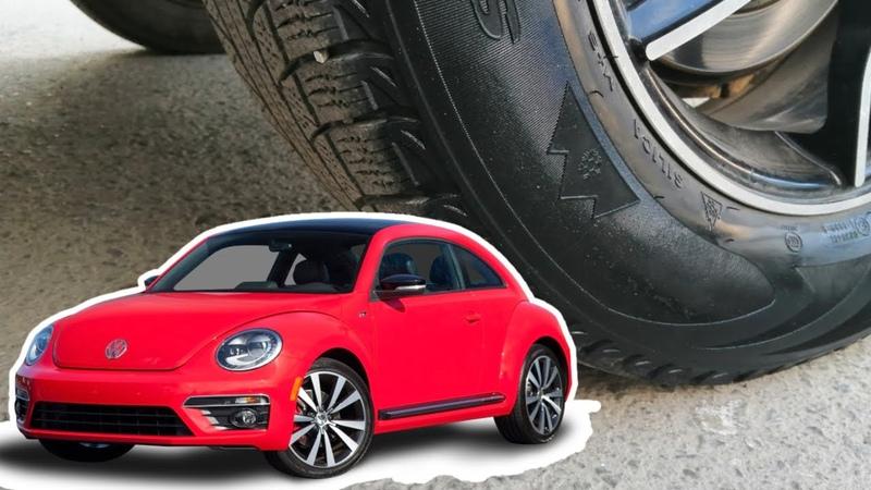 Релакс видео 1 Давим предметы колесом машины