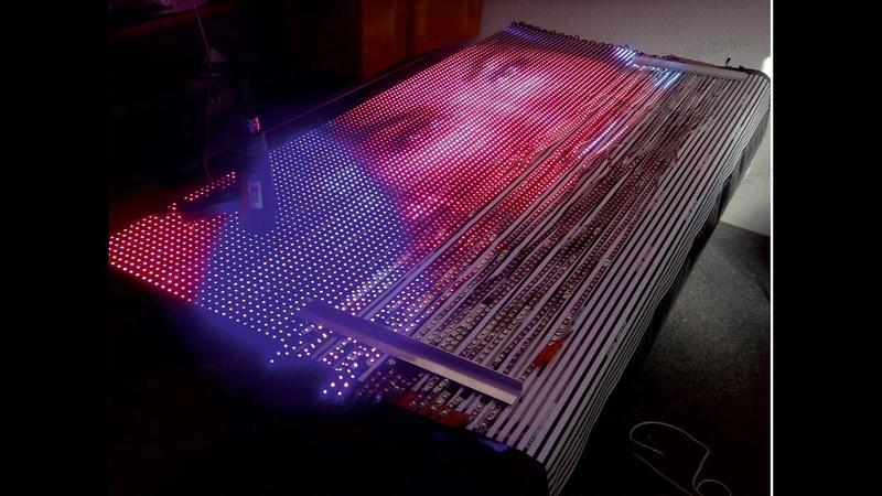 How to build a flexible LEDSign LED Display XXL WS2811 real time Video Transmission 2mX1 5m cortina смотреть онлайн без регистрации
