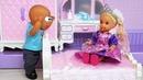 КАТЯ ПРИНЦЕССА И ЕЕ НОВАЯ КОМНАТА! Веселая семейка Барби мультики с куклами