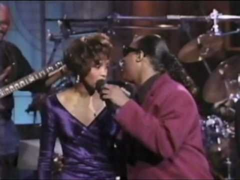 Whitney Houston and Stevie Wonder Superstition Arsenio Hall Show 1990