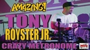 TONY ROYSTER JR. crazy metronome practice with the Roland TD 30 - AMAZING DRUM SOLO