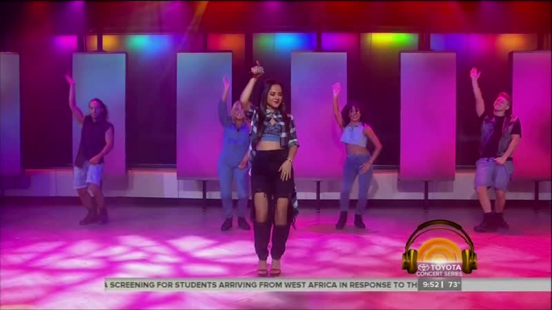 Becky G 2 Shower on Today Show LIVE 8 7 14