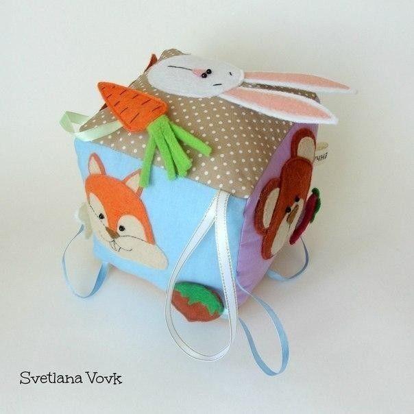 Развивающий кубик своими руками. Автор Svetlana Vov