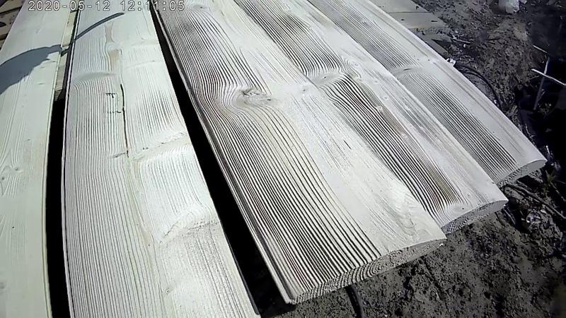 Искусственное старение древесины браширование