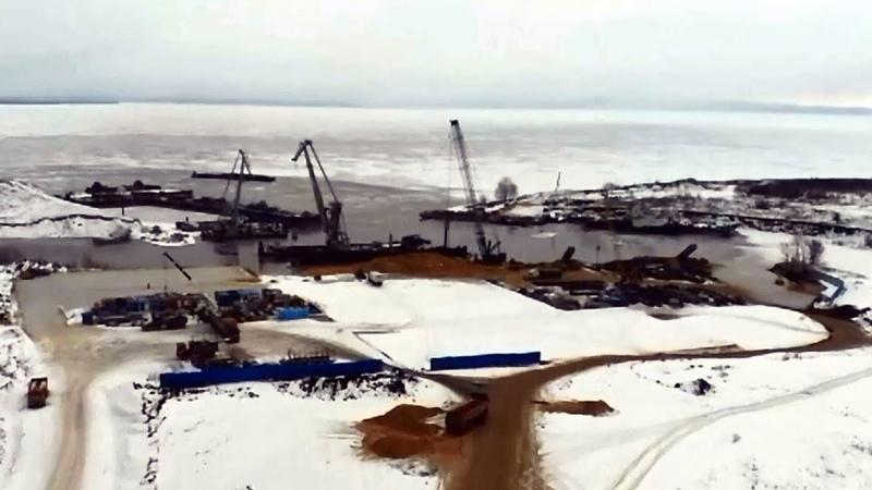 Выходить на лед возле строящегося моста опасно для жизни Новости Тольятти 02 02 2021