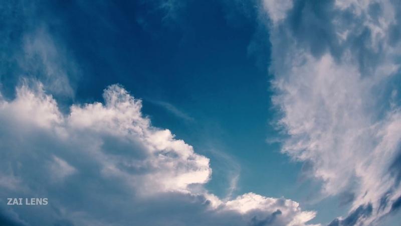 Time Lapse The Blue Blue Sky 4K UHD