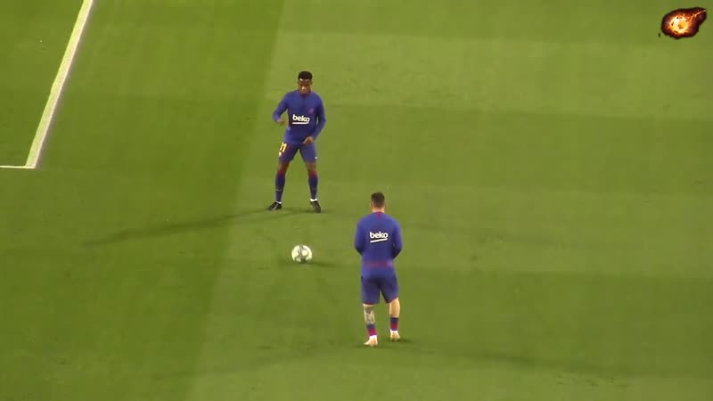 Leo Messi - Fc Barcelona - Warming up before the game