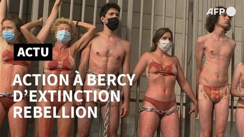 Extinction Rebellion senchaîne à Bercy pour dénoncer les plans de relance   AFP