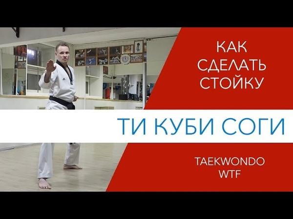 Стойка Ти Куби Соги Taekwondo WTF