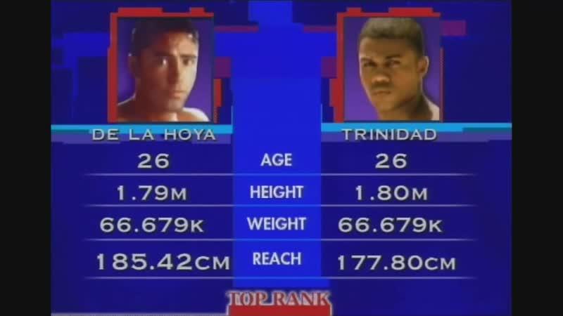 Оскар Де Ла Хойя vs Феликс Тринидад полный бой 18 09 1999