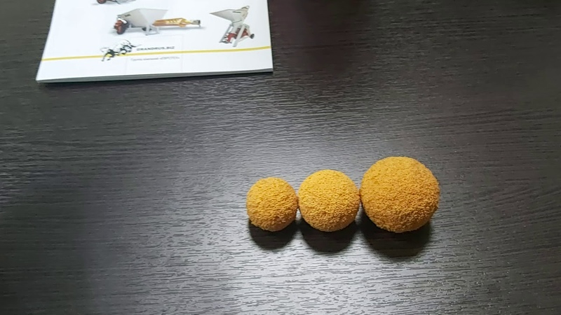 Подскажите Какие шары промывочные для штукатурной станции