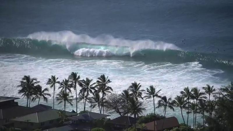 Perfect Storm Swells Hit North Shore Hawaii