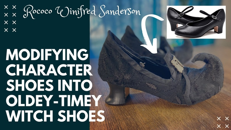 Rococo Hocus Pocus Modifying Character Shoes into Oldey Timey Witch Shoes