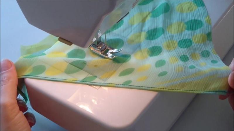 How to Hem Chiffon Fabric. Two Ways of Hemming Lightweight or Chiffon Fabrics
