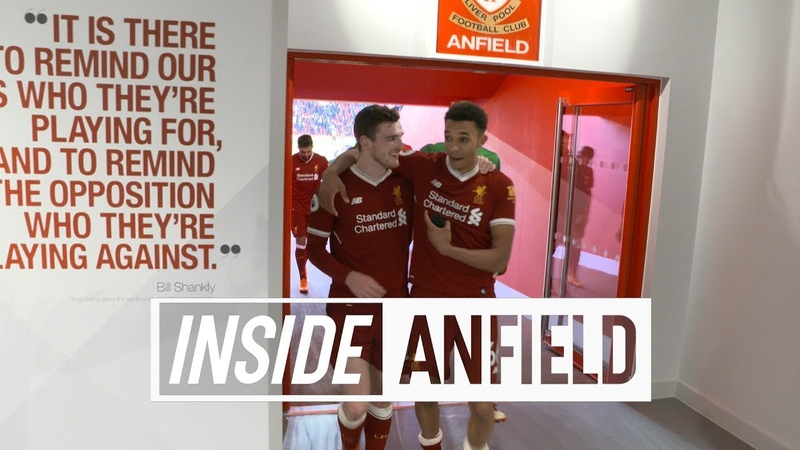 Inside Anfield Liverpool 4 1 West Ham Behind the scenes tunnel cam