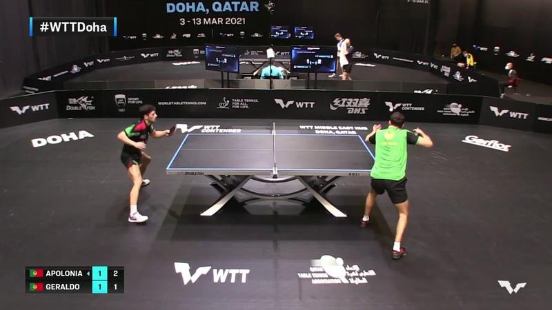 Tiago Apolonia vs Joao Geraldo   WTT Contender Doha 2021   Mens Singles   QUAL Highlights