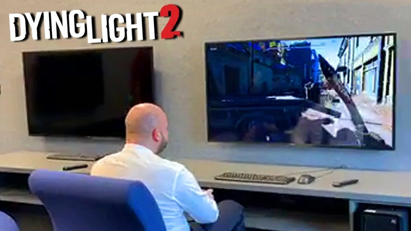 Major Of Wrocław Jacek Sutryk Playing Dying Light 2 At Techlands Office