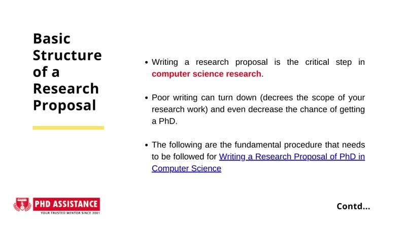 Beginners Guide to Write a Research Proposal for a PhD in Computer Science - Phdassistance