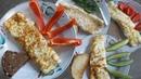 3 омлета и вот это омлет с молоком, омлет со сметаной, омлет с творогом и омлет на воде 4 omelets