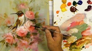 Painting Birds Challenge  Ruby throated Hummingbird