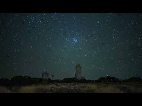 A Real Starfall at the Station of the Astronomical Observatory Stock Footage