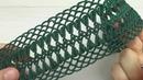 ЛЕНТОЧНОЕ КРУЖЕВО вязание крючком мастер-класс crochet ribbon lace tutorial