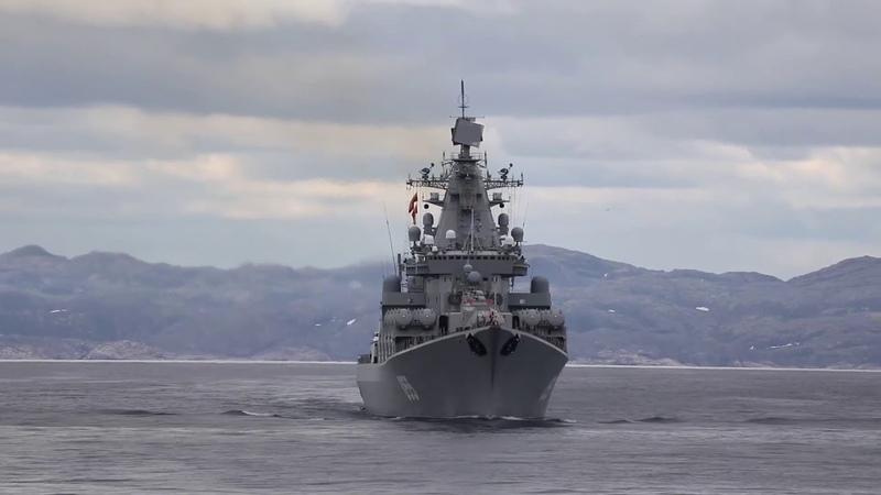 Атомный крейсер Пётр Великий и ВКС РФ показали как уничтожить флот врага яркие кадры