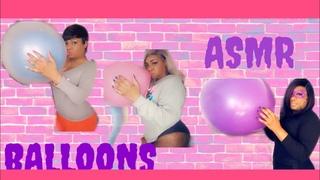 Asmr Remix Beach Ball And Balloon Blowing Popping Short Neck Balloons asmrballoons