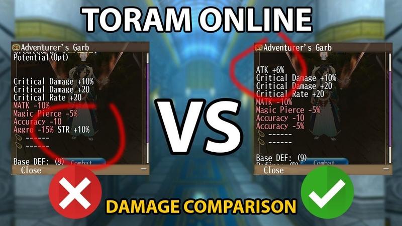 Toram Online [トーラム] - Atk 6% VS Str 10% Damage Comparison