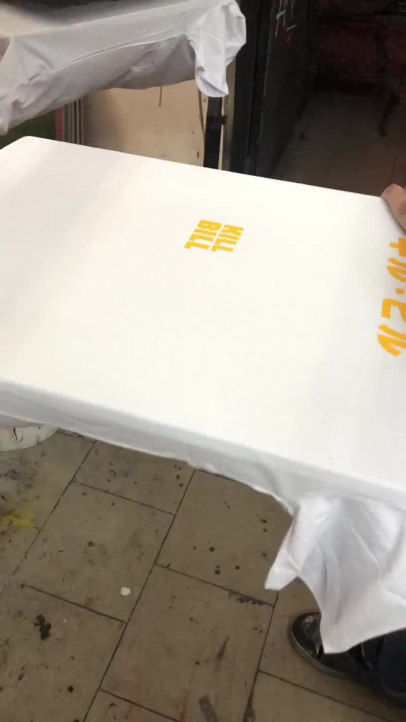 Создание белой футболки KILL BILL