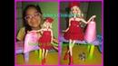 Vestido y Boina Guinda a Crochet.