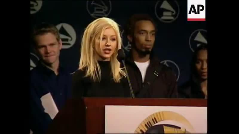 Christina Aguilera Grammy Nominations Event 2000