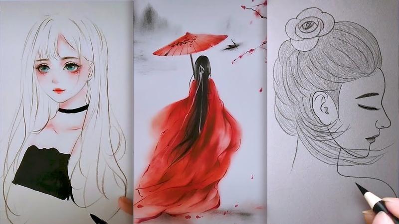 Tranh Vẽ Bút Chì Của Cao Thủ Trung Quốc 💘 Nghệ thuật vẽ tranh đỉnh cao của họa sĩ Trung Quốc ▶122