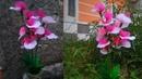 Cara membuat bunga hias dari stocking | bunga anggrek suka suka