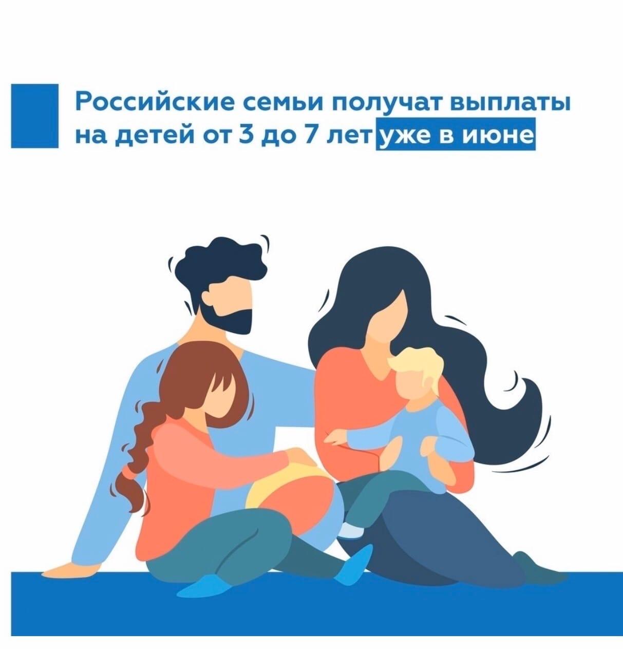 Пособия на детей от 3 до 7