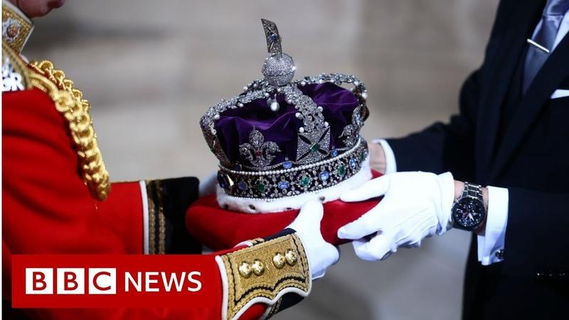 Queen's Speech The Crown arrives BBC News