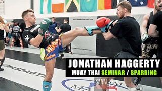 Jonathan Haggerty Muay Thai Seminar and Sparring   Siam Boxing