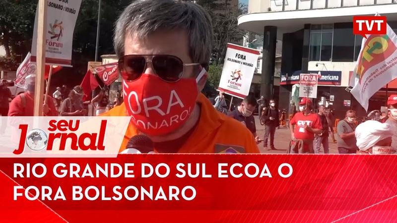 Rio Grande do Sul ecoa o fora Bolsonaro e homenageia os 100 mil mortos pela covid 19