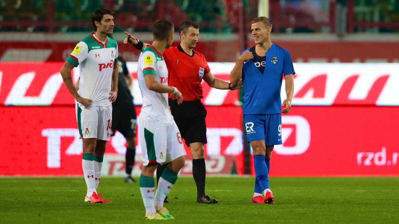 Локомотив - Сочи, 0:0. Александр Кокорин и Алексей Матюнин. Разорванная майка