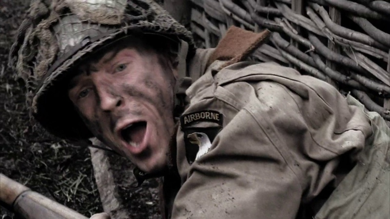 Уинтерс с отрядом нападает на немцев Братья по оружию