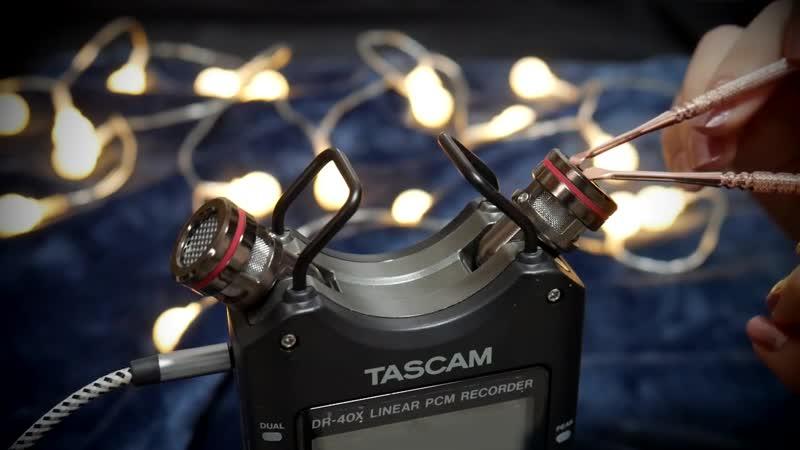 ASMR 금속 종류 귀청소 타스캠 DR 40X 버전  쇠 귀이개 갈고리 회오리 쇠귀이개👂🏻 Metallic Ear Cleaning