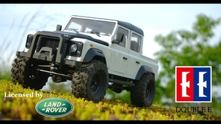 Giant 1/8 Scale RC Land Rover Defender in White Pickup Version | Double E D110