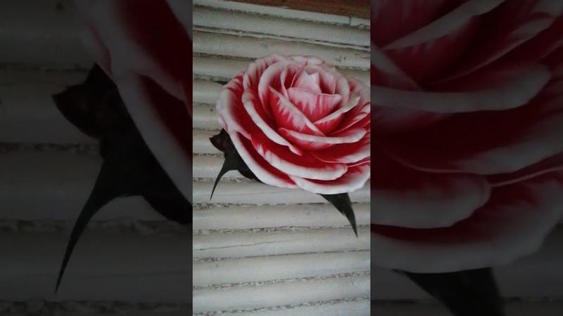 МК Роза Покраска лепестков Изолон