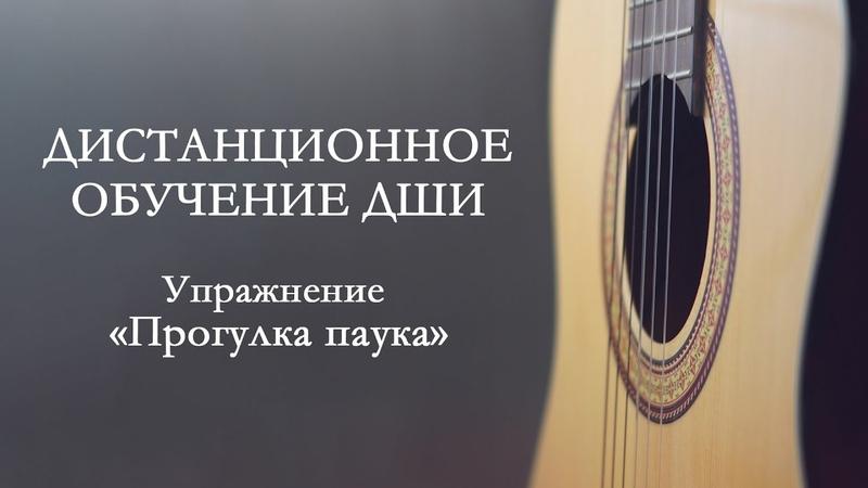 2 Дистанционное обучение ДШИ упражнение Прогулка паука для левой руки гитариста