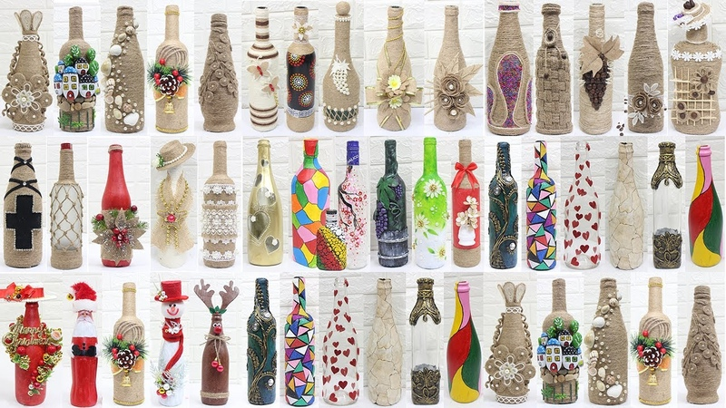 50 Bottle decoration ideas Bottle decoration with jute rope clay