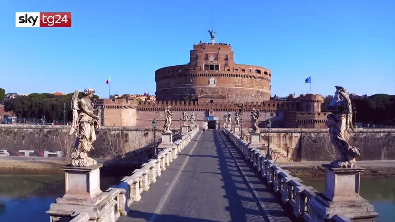 Coronavirus le immagini con il drone di una Roma deserta Vi History Porn