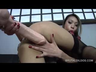 Jayden Lee Test her Holes with Brutal Dildos