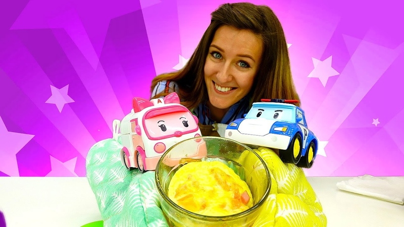 ¡Un vaso mágico para hacer el desayuno Juguetes Robocar Poli y Robocar Amber Cocina para niños